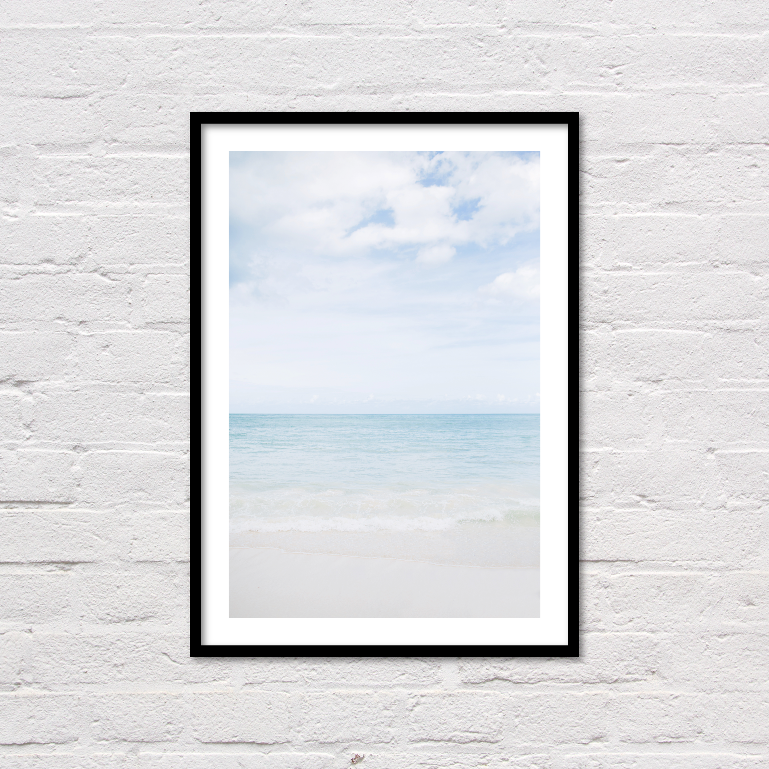 Caribbean Sea Print, Printable Wall Art, Modern Coastal Decor, Blue Ocean Photography, Dominican Republic, Punta Cana, Digital Download